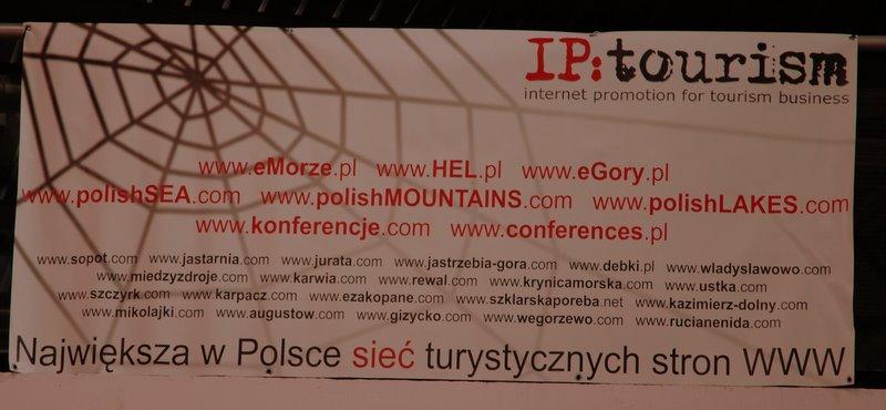 banner IP:tourism na targach Tour Salon w Poznaniu