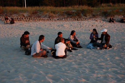 Zebranie IP:tourism na plaży w Dębkach