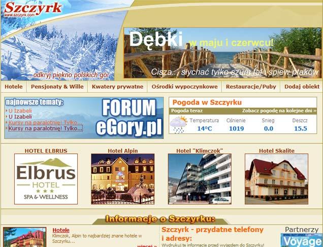 Promocja Dębek późną zimą na portalach o polskicg górach