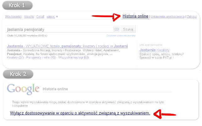 Personalizacja Google